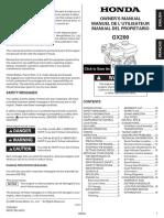 Manual Del Propietario Motor Honda GX200