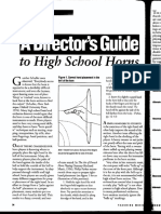 director s guide to horn