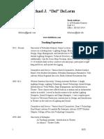 Michael J. DeLorm - Vita 2016 - 17 No Design List.docx