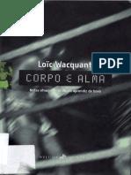85648823 Loic Wacquant Corpo e Alma Notas Etnograficas de Um Aprendiz de Boxe