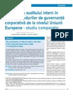 TEMA 3 - Contributia Auditului Intern in Viziunea Codurilor de Guvernanta UE