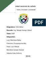Universidad Nacional de Cañete Informatica - Siaf
