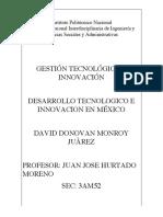 DESARROLLO TECNOLOGICO E INNOVACION EN MÉXICO