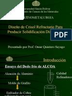 Diseño de Crisol Refractario Para Producir Solidificación Di