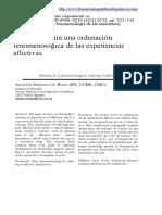 Serrano de Haro. Elementos Para Una Ordenación Fenomenológica de Las Experiencias Aflictivas.