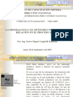MINERALOGIA-MUESTREO