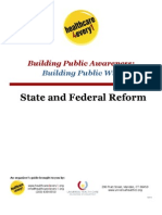 State and Federal Health Care Reform