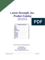 Catalog Dyestuf