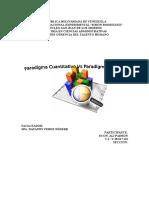 Ensayo Sobre Paradigmas Cualitativos vs Paradigmas Cuantitativos