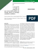 Conocimientos y Percepcion de Riesgo Sobre El SIDA en Estudiantes de Bachillerato