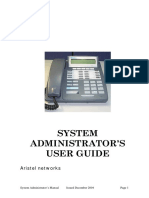 Dv System Admin Manual
