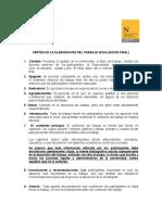 Pautas Para Elaboración y Calificación Del Trabajo Final