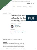 Open Text Vim Basic Config DP