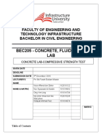 Lab Report Concrete-compressive Strength