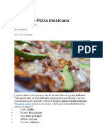 Receta de Pizza Mexicana