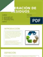 1.- Generación de Residuos