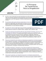 Principios de Tratamientos Para La Drogadiccion