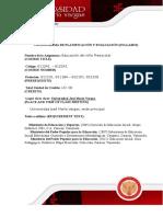 Syllabus de Educacion Del Nino Preescolar