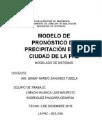 Modelo de Pronostico de Precipitacion