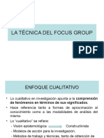 18 La Tecnica Del Focus Group