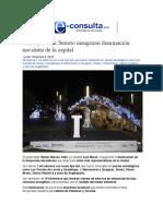 05.12.2016 e-consulta.com - RMV y Banck Serrato inauguran iluminación navideña de la capital