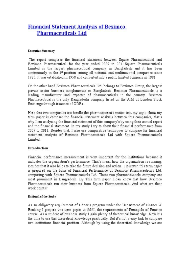 internship report on financial performance analysis of bank