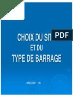 Choix Du Site de Barrage