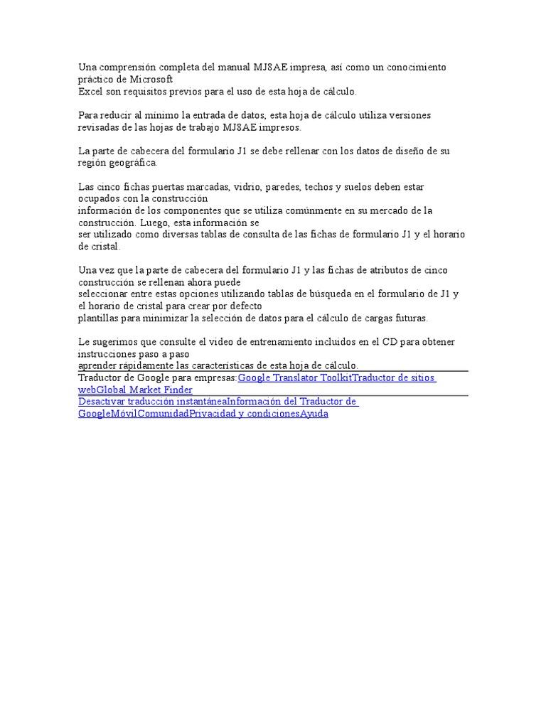 Atractivo Acca Manual De Hoja De Cálculo J Componente - hojas de ...