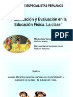 Tema Planificación y Evaluación. Perú