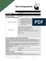 unit plan components
