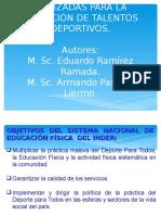 Principales Vías Para La Seleccción de Talentos Deportivos. 01.08.2016