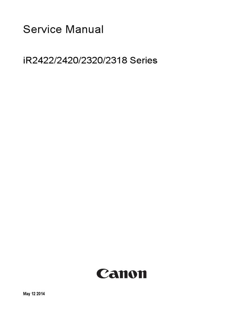 iR2422_2420_2320_2318_Series_SM_EN_R5.pdf | Image Scanner | Signal  (Electrical Engineering)