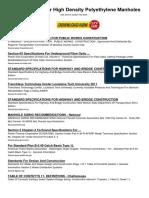Specifications for High Density Polyethylene Manholes