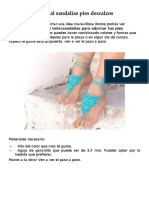 Tutorial Sandalias Pies Descalzos
