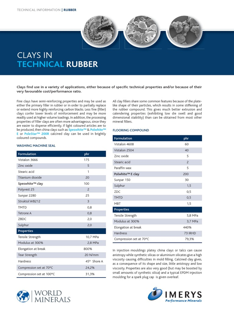 EPDM Formulation Technical Rubber | Strength Of Materials | Clay