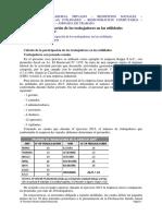 Cálculo de La Participación de Los Trabajadores en Las Utilidades