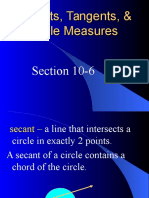 10-6 Secants, Tangents, and Angle Measures.ppt