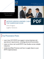 0302 SAP EWM Lessons Learned Case Studies From the Warehouse Floor