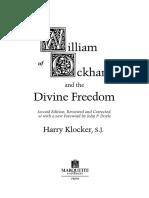 William of Ockham and the Divine Freedom - Harry Klocker