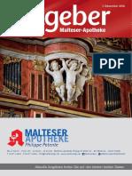 Ratgeber aus Ihrer Malteser-Apotheke – Dezember 2016