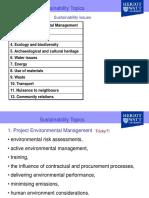 Sustainablity Topics
