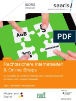 Rechtssichere Internetseiten Online Shops