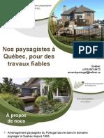 Aménagement paysager à Québec par nos paysagistes
