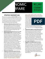 Economic Warfare Strategic Plan