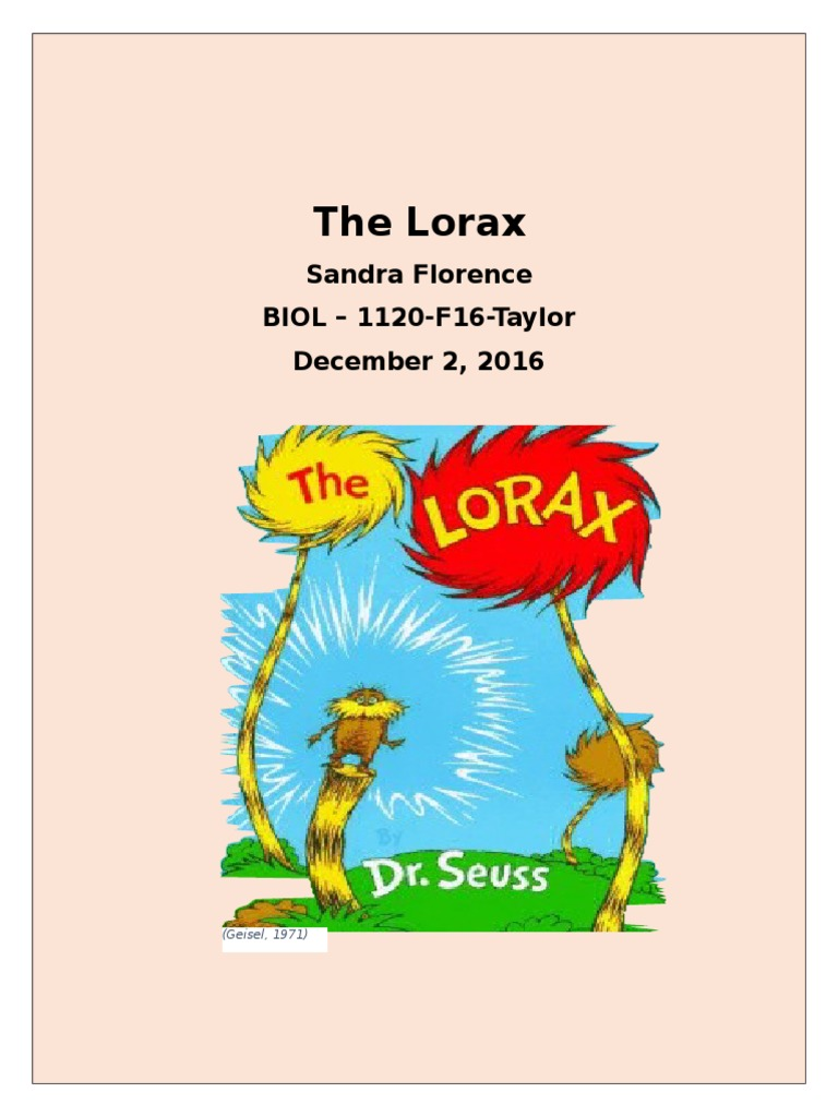"""Seuss The Lorax You need a Thneed Pillow COVER 16/"""" Dr"""