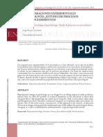 Las Preparaciones Experimentales en Psicología