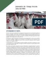 Granja Avicola-Proceso Administrativo