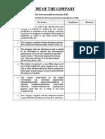 Checklist - Environmental Laws