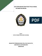 Analisis Interaksi Keruangan Dan Pusat Pelayanan Kec.Bejen