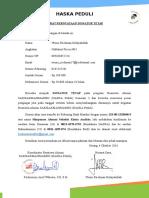 Surat Pernyataan Donatur Tetap BAS